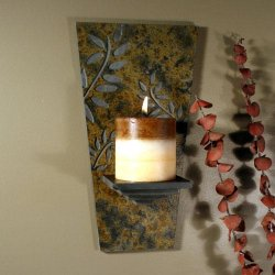 Wall Candle Sconce: Fern