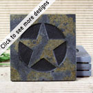 Medallion Coasters: Copper Slate
