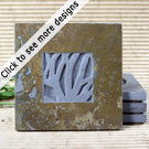 Natura Coasters: Copper Slate